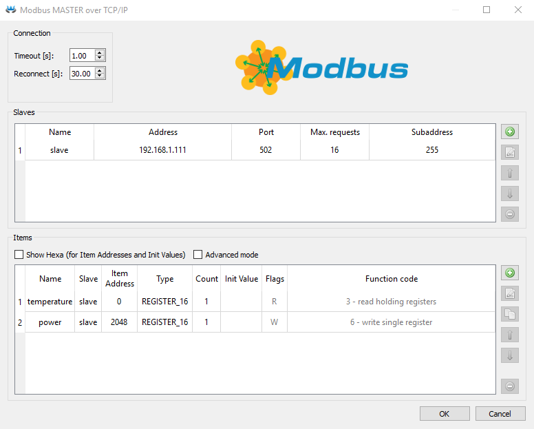 Modbus driver for the REXYGEN system (the MbDrv module) User